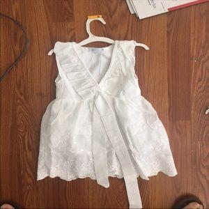 Other - NWOT Girls 5/6 Eyelet A-line Dress!